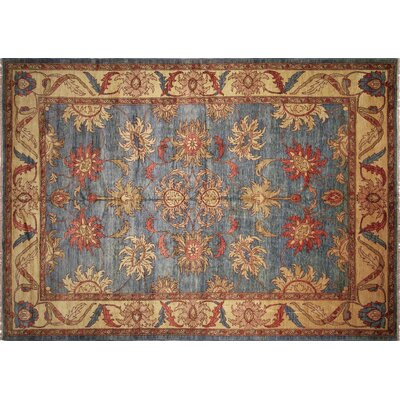 Lauterbach Hand-Knotted Light Blue Area Rug