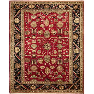 Montague�Hand-Knotted Red Wool Area Rug