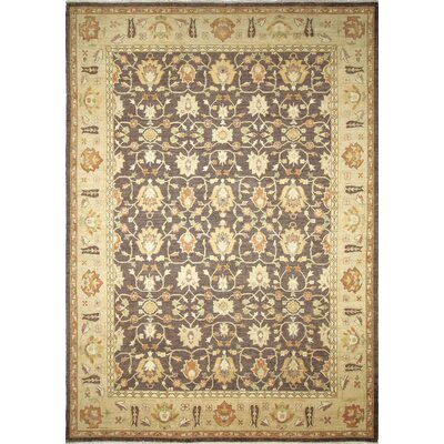 Arthen Hand-Knotted Rectangle Chocolate Area Rug