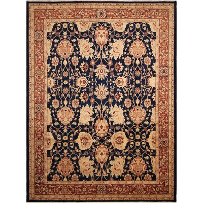One-of-a-Kind Leann Hand-Knotted Blue/Rust Indoor Area Rug