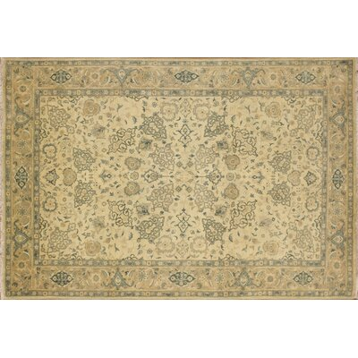 Ankara La�la Hand Knotted Wool Ivory Area Rug Rug Size: Rectangle 6 x 9