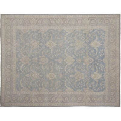 Leann Hand-Knotted Blue Wool Area Rug