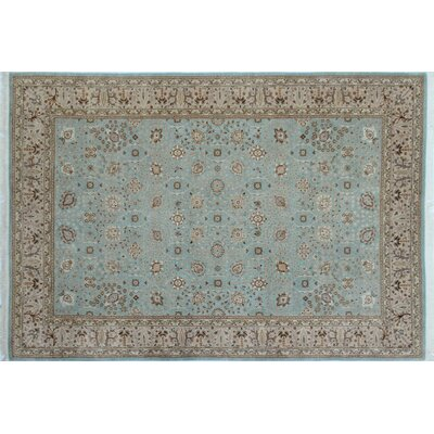 Ankara Amaan Hand Knotted Wool Light Blue Area Rug Rug Size: Rectangle 61 x 91