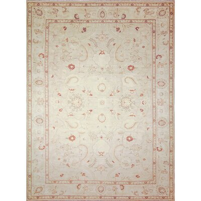 One-of-a-Kind Leann Hand-Knotted Light Green Area Rug