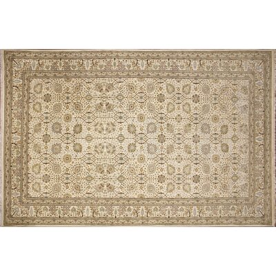 Ankara Abigail Hand Knotted Wool Ivory Area Rug Rug Size: Rectangle 83 x 137