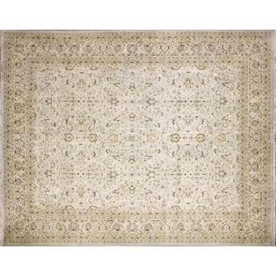 Ankara Behrooz Hand Knotted Wool Light Blue Area Rug Rug Size: Rectangle 85 x 101