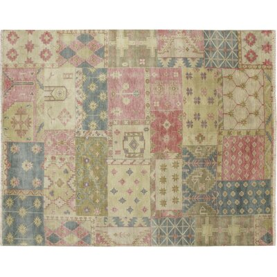 One-of-a-Kind Indo Modern Tabor Hand-Knotted Beige Area Rug