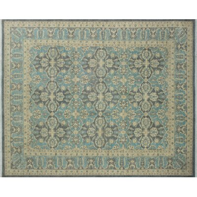 One-of-a-Kind Leann Hand-Knotted Rectangle Gray Wool Area Rug