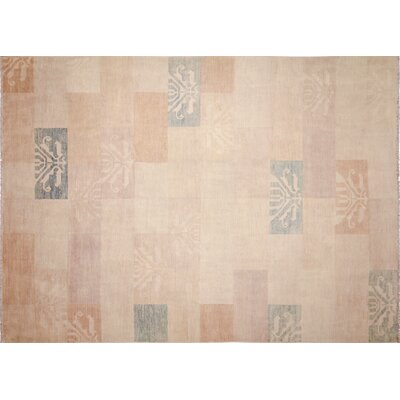 One-of-a-Kind Calliope Hand-Knotted Geometric Ivory Area Rug