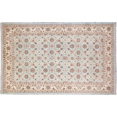 One-of-a-Kind Leann Hand-Knotted Rectangle Blue Indoor Area Rug