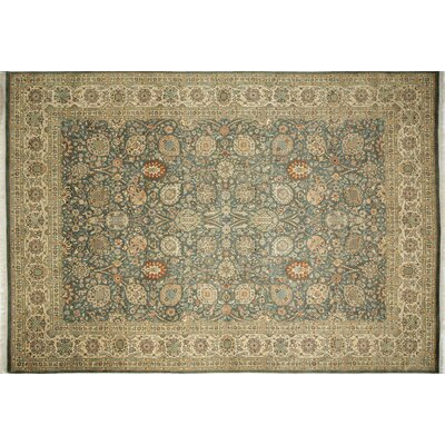Ankara Farideh Hand Knotted Wool Green Area Rug Rug Size: Rectangle 102 x 143