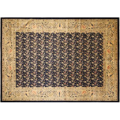 One-of-a-Kind Montague�Hand-Knotted Blue Wool Area Rug