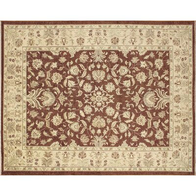 One-of-a-Kind Arthen Hand-Knotted Chocolate Area Rug