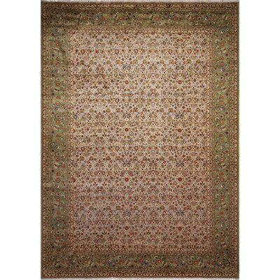 Arthen Hand-Knotted Light Brown Area Rug