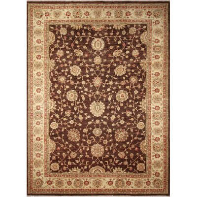 Leann Hand-Knotted Chocolate Brown Area Rug