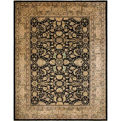 One-of-a-Kind Montague�Hand-Knotted Black Area Rug