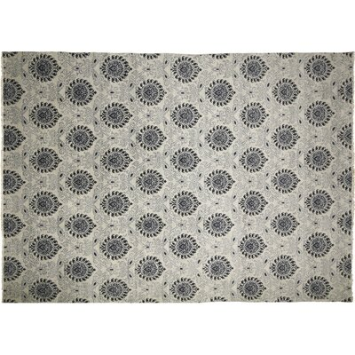 Bellview Oriental Hand-Knotted Gray Area Rug