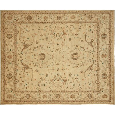 One-of-a-Kind Leann Hand-Knotted Oriental Beige Area Rug