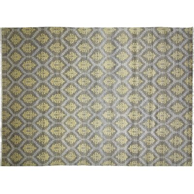 Bellview Hand-Knotted Wool Light Green Area Rug