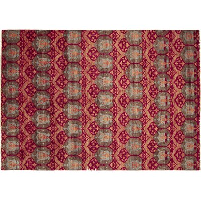 One-of-a-Kind Bellview Oriental Hand-Knotted Red Area Rug
