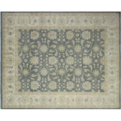 One-of-a-Kind Leann Hand-Knotted Rectangle Gray Indoor Area Rug