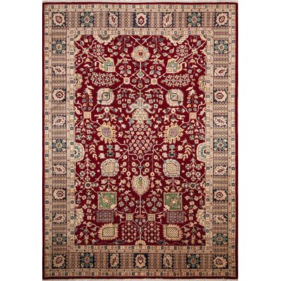 One-of-a-Kind Leann Hand-Knotted Oriental Rectangle Red Area Rug