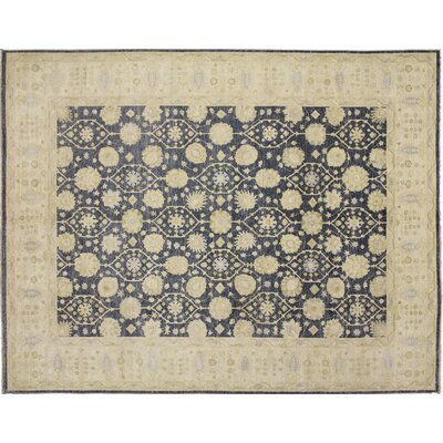 Leann Hand-Knotted Blue Area Rug