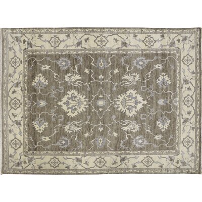 Oushak Fine Sindbad Hand-Knotted Light Brown Area Rug