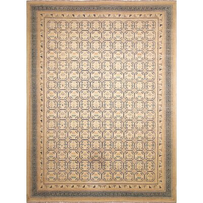 Leann Hand-Knotted Ivory Indoor Area Rug