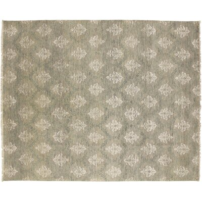 Oushak Fine Naheed Hand-Knotted Gray Area Rug