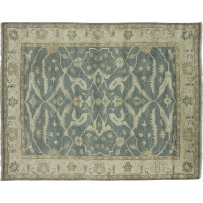 Bellview Hand-Knotted Green/Ivory Area Rug