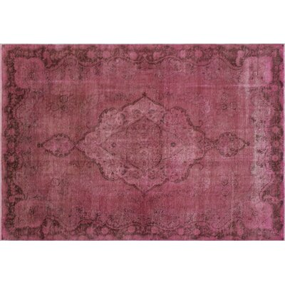 Distressed Munira Hand-Knotted Purple Area Rug