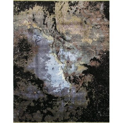 One-of-a-Kind Jackson Hand-Knotted Gray Area Rug