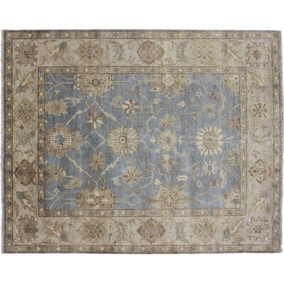One-of-a-Kind Mahal Indo Kohinoor Hand-Knotted Blue Area Rug