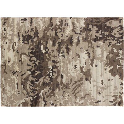 Indo Modern Munisa Hand-Knotted Brown Area Rug