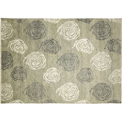 Oushak Fine Xerxes Hand-Knotted Light Green Area Rug