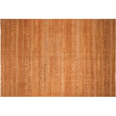 Grass Umair Hand-Knotted Rust Area Rug
