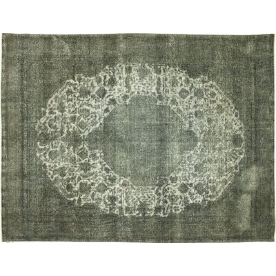 Distressed Overdyed Sami Hand-Knotted Gray Area Rug