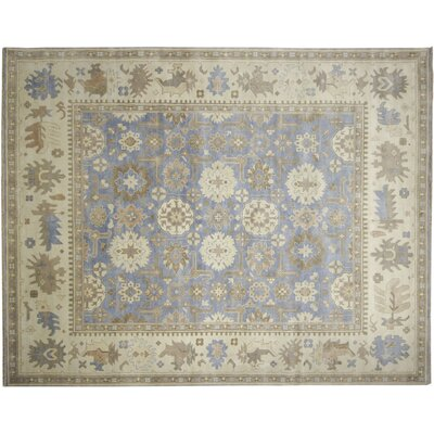 One-of-a-Kind Bellview Hand-Knotted Light Blue Area Rug