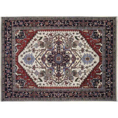 One-of-a-Kind Heriz Sara Hand-Knotted Ivory Area Rug