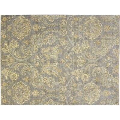 Leann Hand-Knotted Light Blue Wool Area Rug