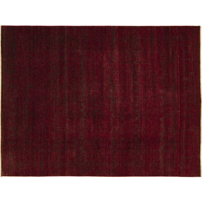 One-of-a-Kind Indo Modern Nadya Hand-Knotted Red Area Rug