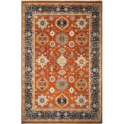 One-of-a-Kind Chobi Fine Ghizlane Hand-Knotted Rust Area Rug