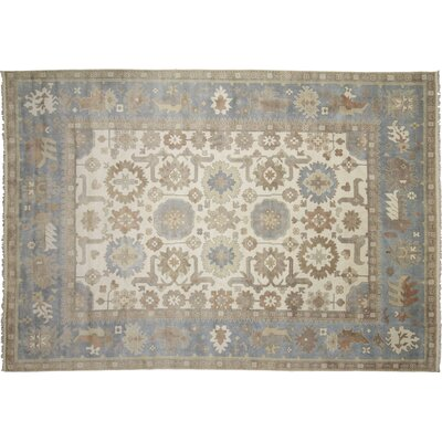 One-of-a-Kind Bellview Hand-Knotted Oriental Ivory Area Rug