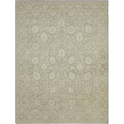 One-of-a-Kind Leann Faded Hand-Knotted Rectangle Gray Area Rug