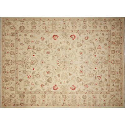 Arthen Hand-Knotted Rectangle Ivory Area Rug