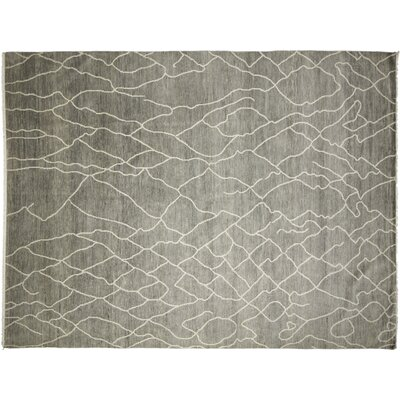Dian Afifa Hand Knotted Wool Light Blue Area Rug Rug Size: Rectangle 41 x 511
