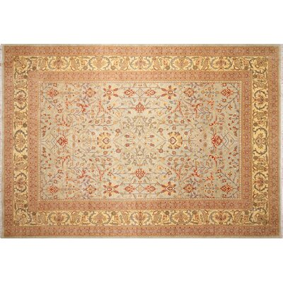 Arthen Hand-Knotted Light Blue Fringe Area Rug