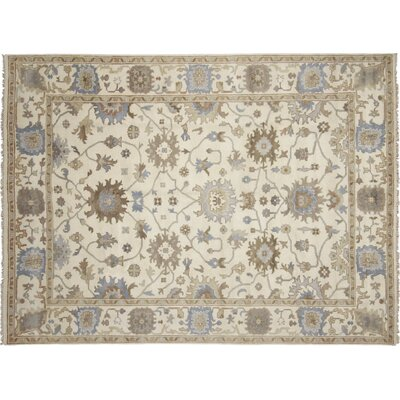 One-of-a-Kind Bellview Hand-Knotted Wool Ivory Area Rug