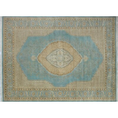 Branner Hand Knotted Wool Light Blue Area Rug Rug Size: Rectangle 9 x 1110